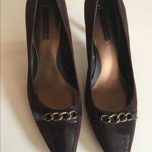 Brown Bandolino Pumps with a 2 inch heel